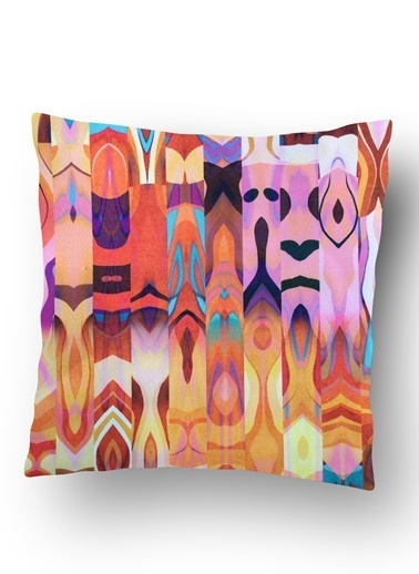 Lyn Home & Decor Karışık Desenler Yastık Kılıfı Renkli